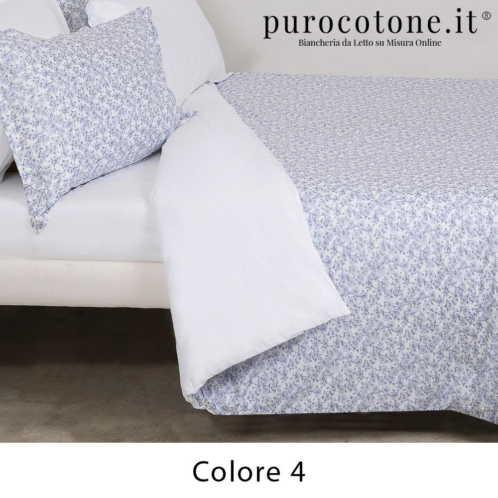 Parure Copripiumino Cotone Extra Fine Fiori Piccoli Manhattan Outlet
