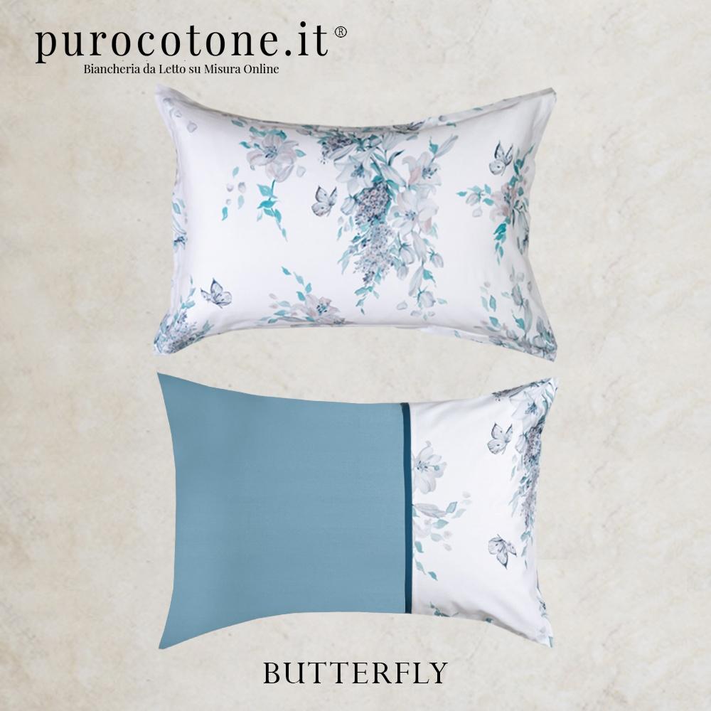 Federa Raso Extra Fine di Puro Cotone TC300 Butterfly 1