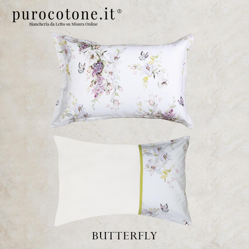 Federa Raso Extra Fine di Puro Cotone TC300 Butterfly 2