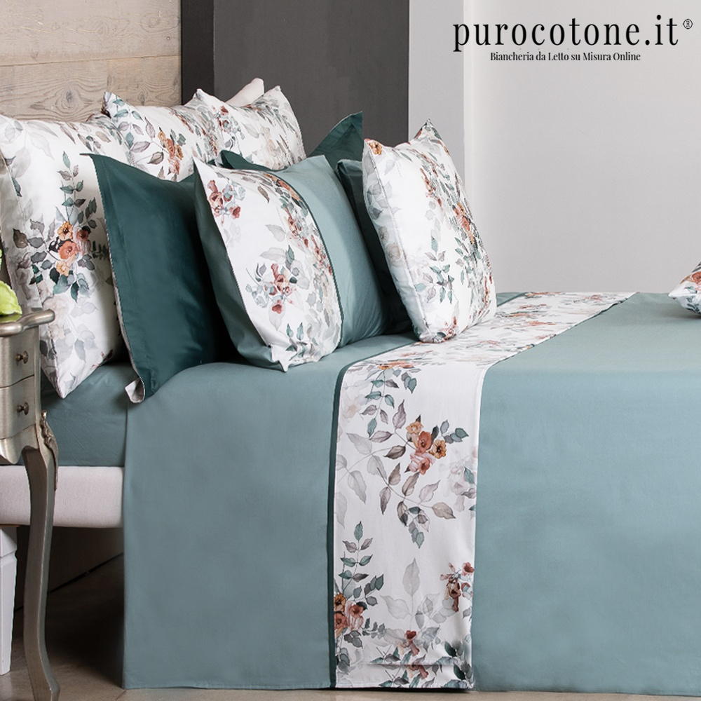 Lenzuola Complete Percalle Extra Fine di Puro Cotone TC200 Trilly 2 Outlet