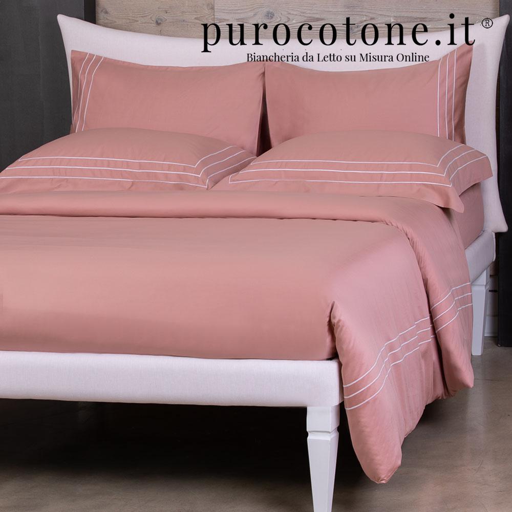 Parure Copripiumino Raso Extra Fine di Puro Cotone TC300 Rigoletto Outlet