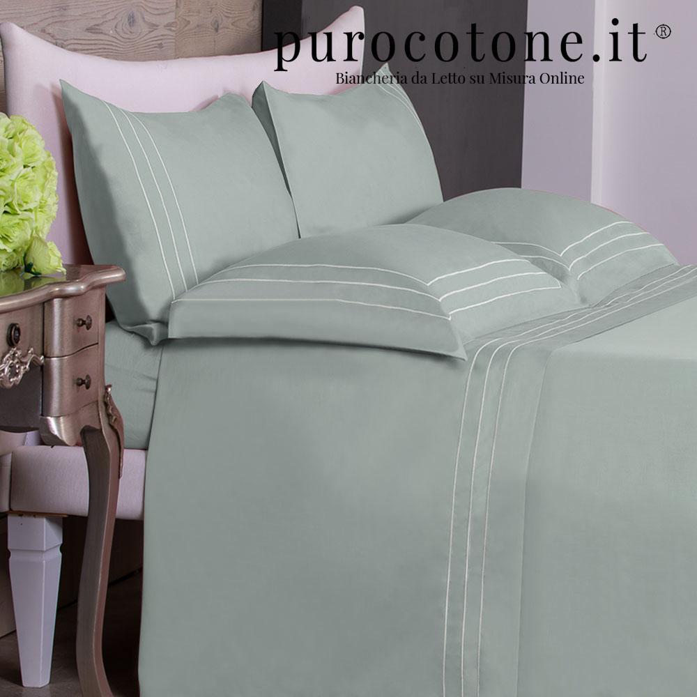 Lenzuola su Misura Maxi King Size Percalle Extra Fine di Puro Cotone TC200 Rigoletto