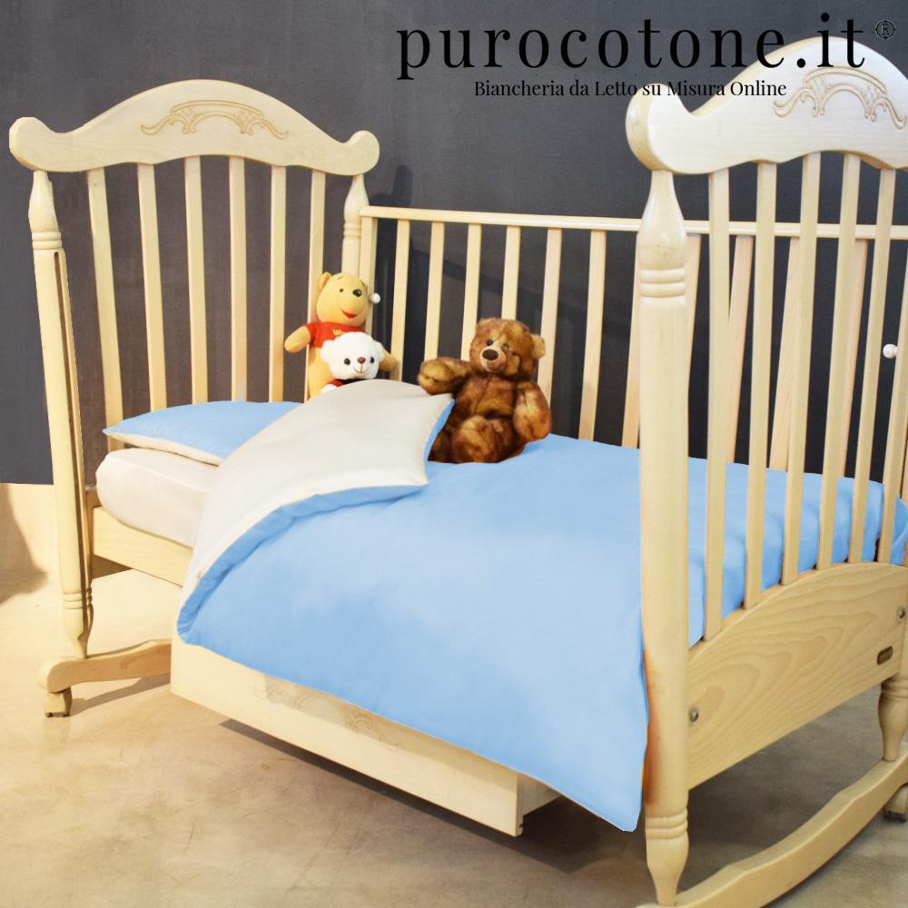 Copri Piumino per Culla Percalle Extra Fine di Puro Cotone TC200