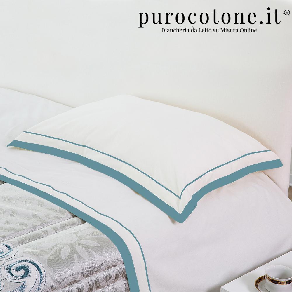 Lenzuola su Misura Maxi King Size Percalle Extra Fine di Puro Cotone TC200 Nuvola