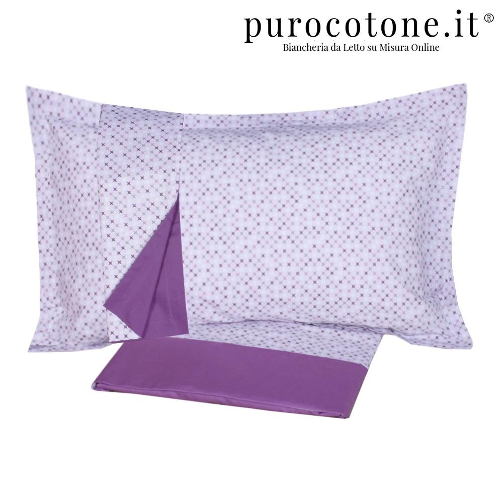 Outlet - Set Lenzuola Singole Piazza e Mezza Matrimoniali - Cotone Extra Fine Rombino