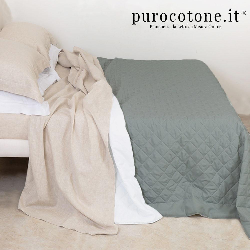 Trapunta Primaverile - Linea Hotel - Cotone Extra Fine Stropicciato - su Misura Maxi King Size