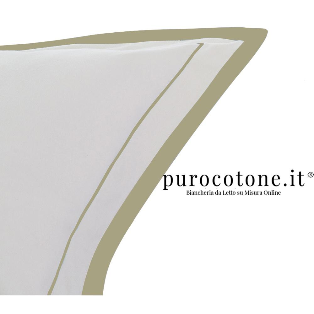 Federa Raso Extra Fine di Puro Cotone TC300 Nuvola