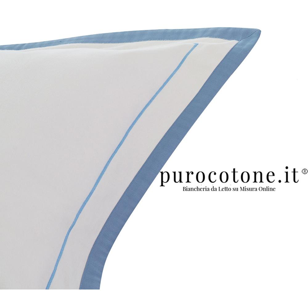 Federa Percalle Extra Fine di Puro Cotone TC200 Nuvola