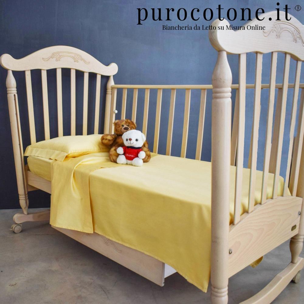 Lenzuola per Culla e Carrozzina Raso di Puro Cotone TC210