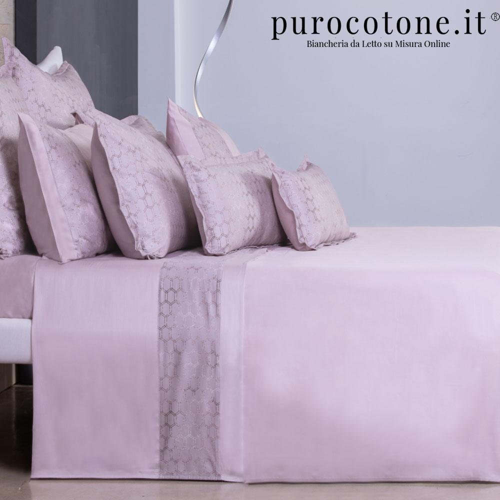 Outlet - Set Lenzuola Matrimoniali - Raso di Puro Cotone TC210 Nido D'Ape