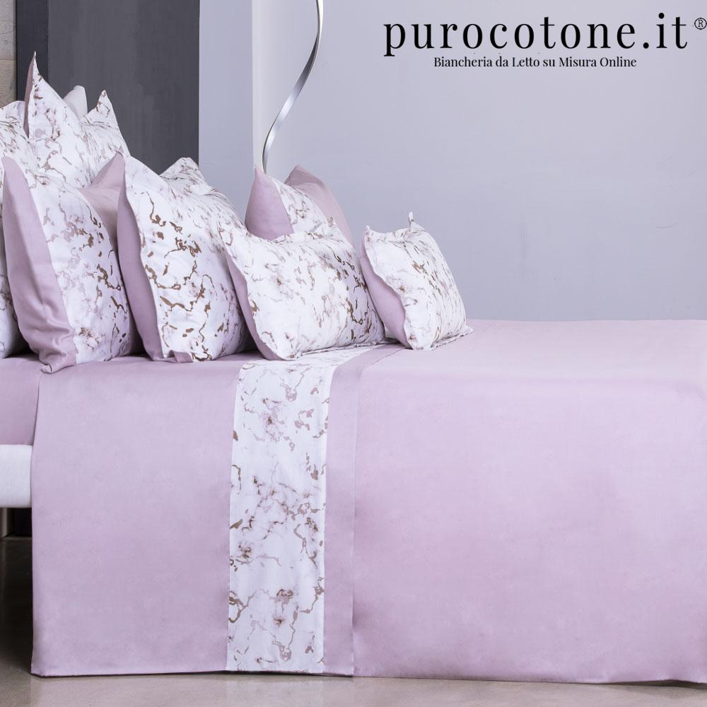 Lenzuola Raso Di Puro Cotone Tc210 Marmo Purocotone It