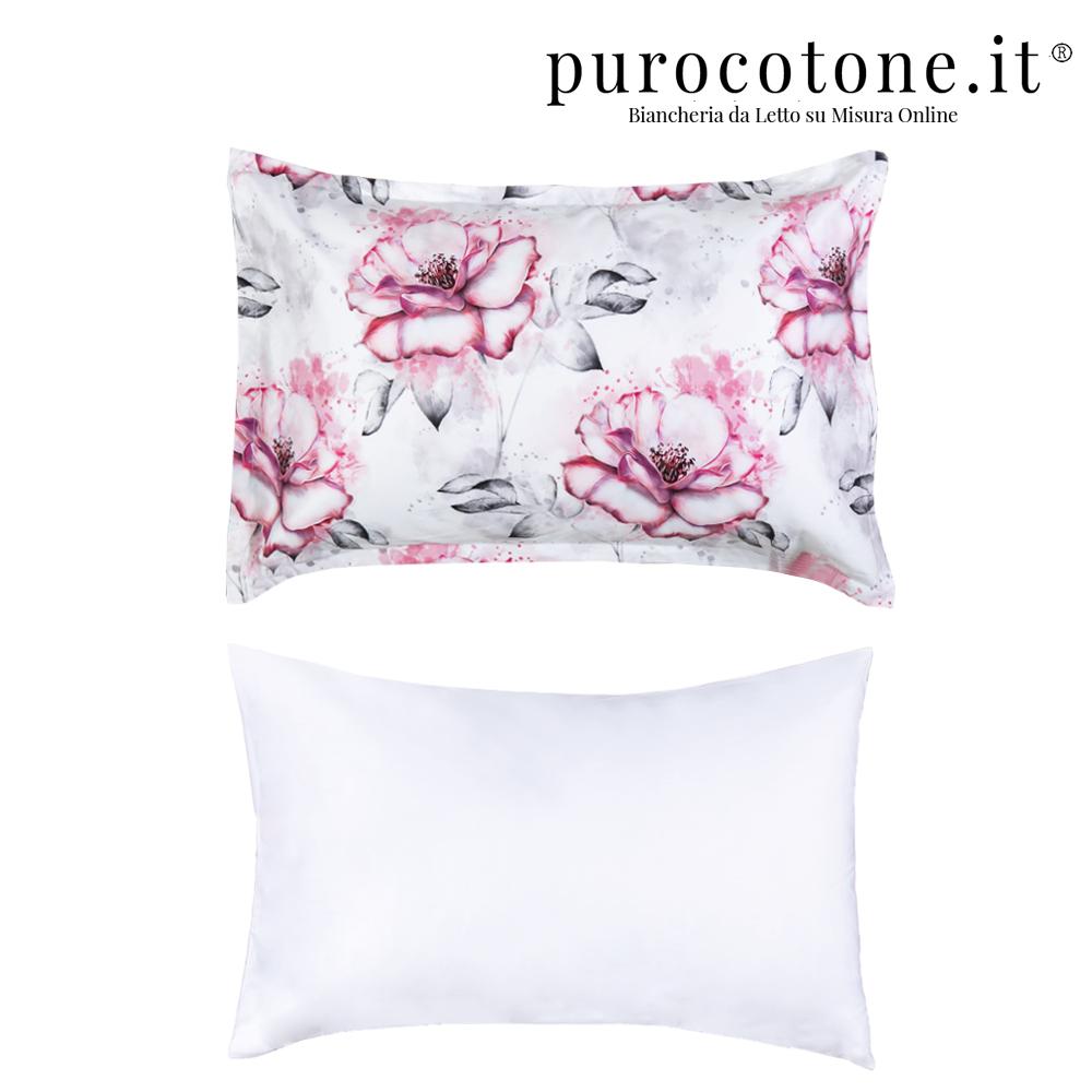 Federa Raso Extra Fine di Puro Cotone TC210 Romantica