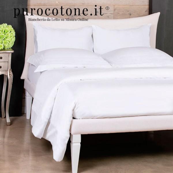 Parure Copripiumino Linea Lusso Cotone Americano Supima 600TC