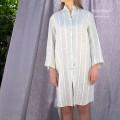 Camicia Lunga Donna in Puro Lino Melange Riga