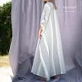 Vestaglia Lunga Donna in Puro Lino Melange
