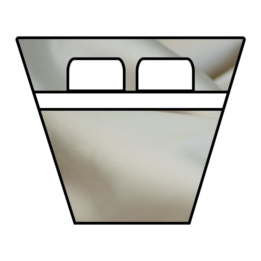 Lenzuola Sotto con Angoli - Barche e Camper - Raso Extra Fine di Puro Cotone TC300 - su Misura