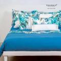 Parure Copri Piumino su Misura Maxi King Size Percalle Extra Fine TC200 Foglia