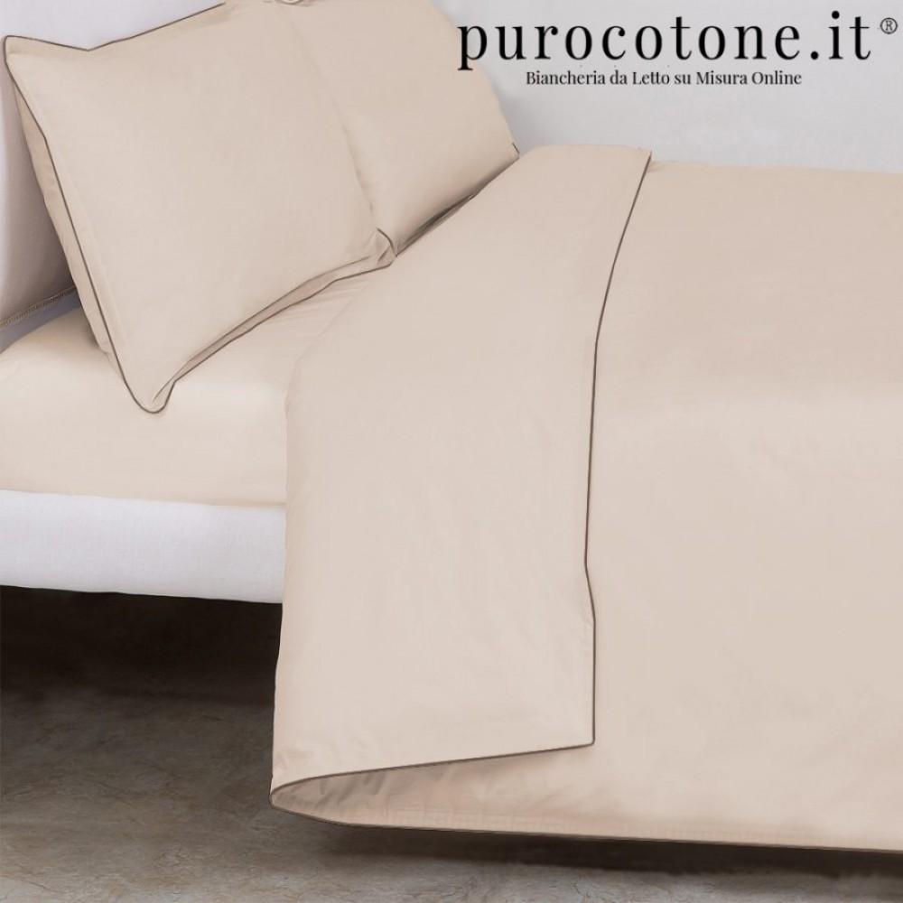 Outlet - Parure Copripiumino Matrimoniale - Percalle Extra Fine di Puro Cotone TC200 Minimal