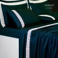 Lenzuola su Misura Maxi King Size Raso di Puro Cotone TC210 Pizzo Parigi
