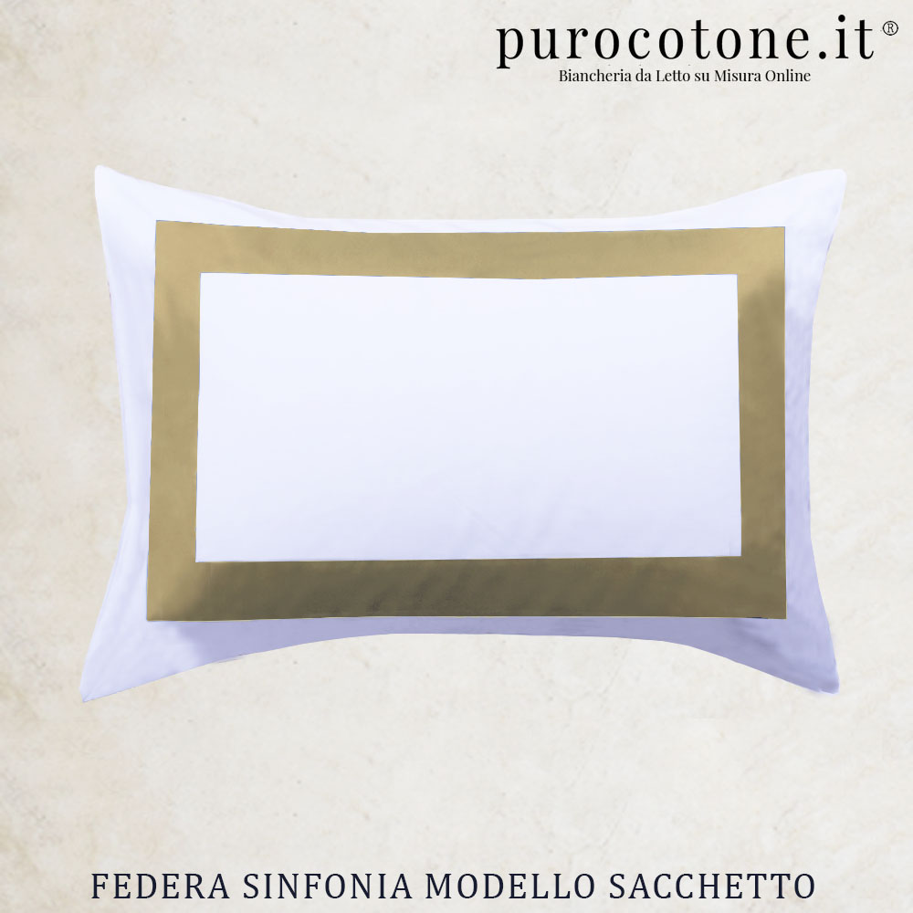 Coppia Federe Sacchetto Sinfonia Raso Extra Fine di Puro Cotone TC300