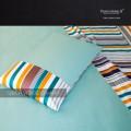 Outlet - Set Lenzuola Matrimoniali - Raso TC300 Stripe 528Ch Verde Chiaro
