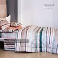 Trapunta Invernale - su Misura Maxi King Size - Raso Extra Fine Di Puro Cotone TC300 Stripe