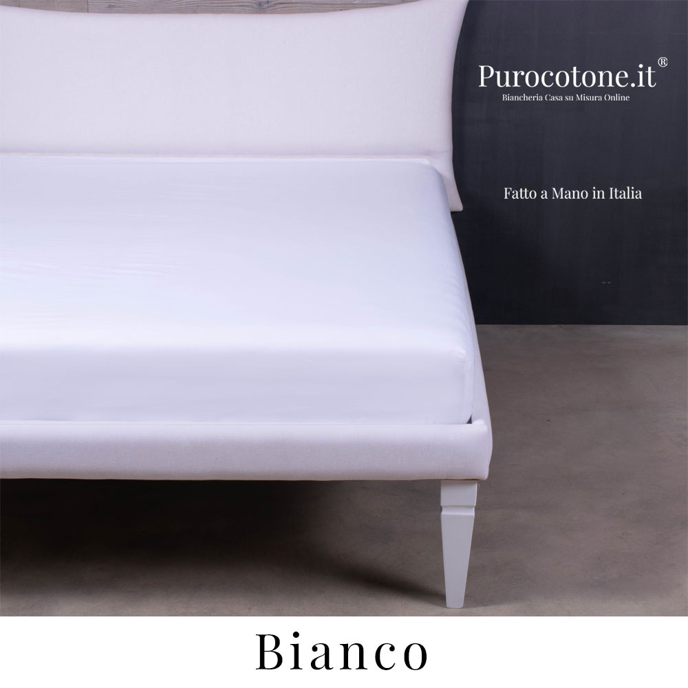 Lenzuola Sotto Con Angoli 160x190 30 Caldo Cotone Bianco