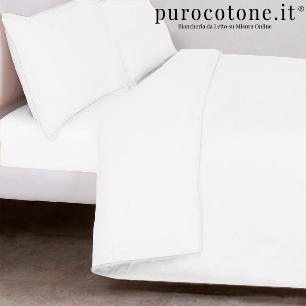Copripiumino Matrimoniale Raso di Puro Cotone TC210 Minimal Outlet