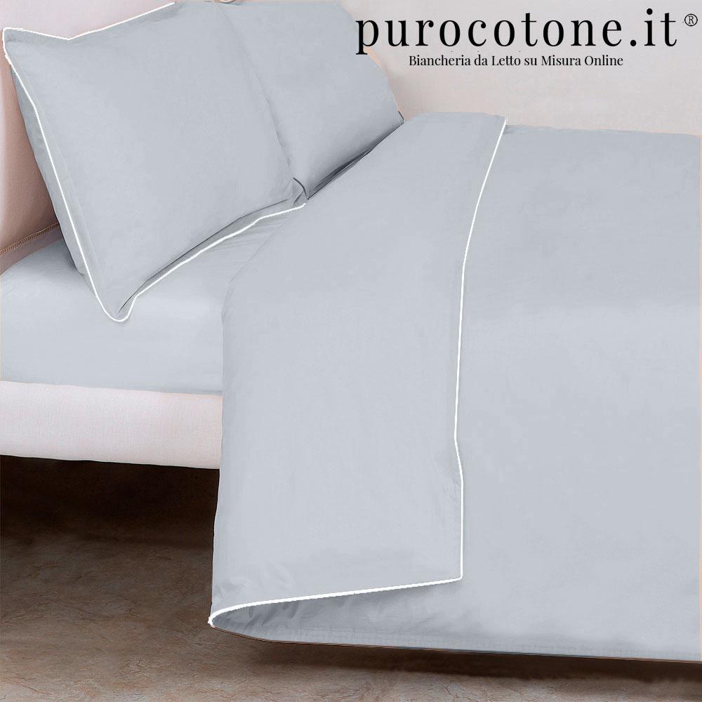 Parure Copripiumino Raso di Puro Cotone TC210 Minimal Outlet