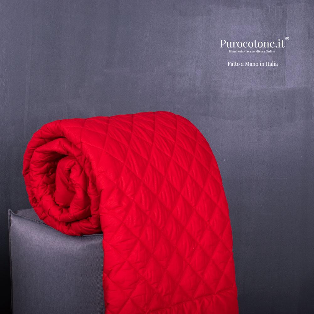 Trapuntino Singolo 160G Cotone Extra Fine 180X270 Colore 392SP Rosso