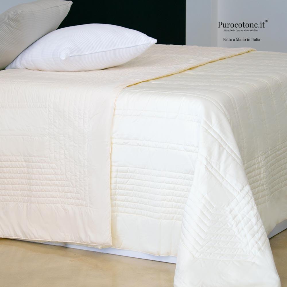 Outlet - Trapunta Primaverile Matrimoniale - 270x270 Raso TC210 Panna