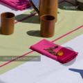Coppia Tovaglioli in Tinta Unita Panama di Cotone